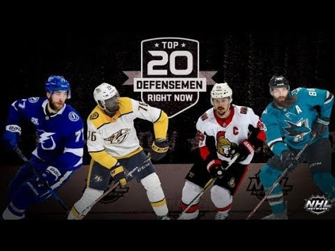 NHL Network's: Top 20 Defensemen  Right Now   Aug 12, 2018