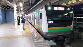上野東京ラインE233系 東京進入~発車