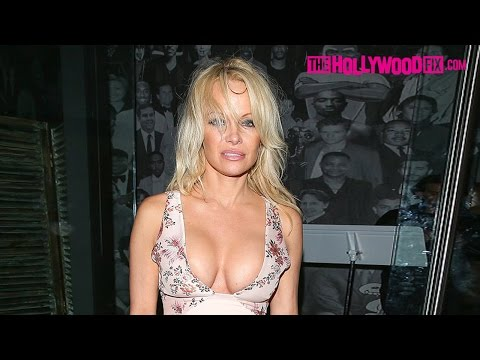 Pamela Anderson Shows Serious Cleavage While Leaving Catch Restaurant 11.5.16 thumbnail