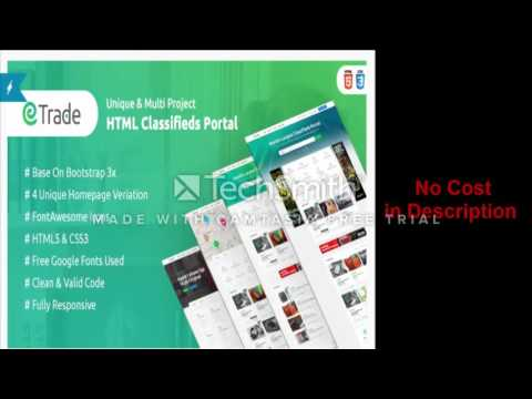 Trade  Modern Classified Ads HTML Template Review