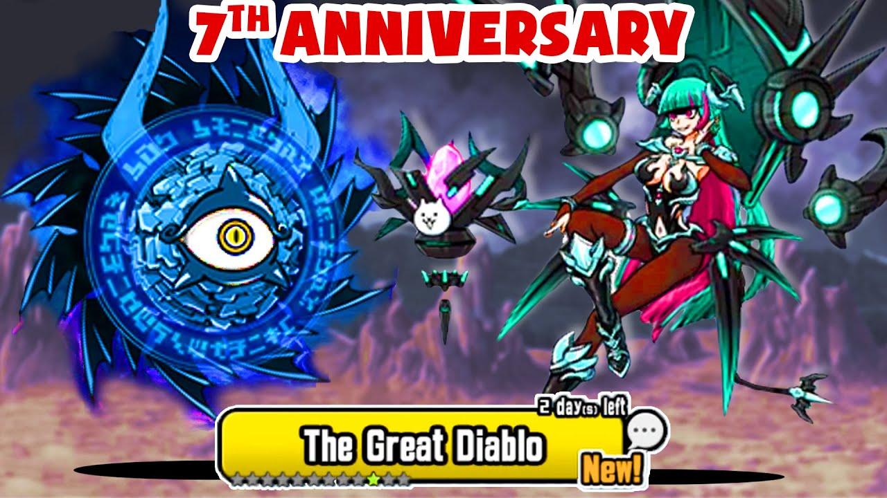 Download [The Battle Cats] Enter 7th anniversary - Lilin The Mateki Elixir - Wild Cat Slots - 10.8 update