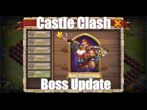 Castle Clash: New Boss Fight With Magic!!