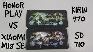 Xiaomi Mi8 SE vs Honor Play Gaming Comparison/Dolphin emulator/Snapdragon 710 vs Kirin 970