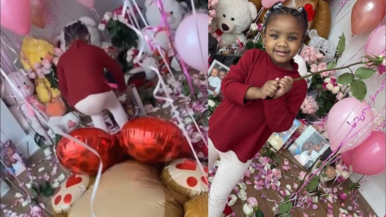 Dababy decorates his house for his daughter on Valentine's Day🥺❤️