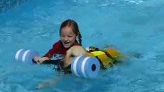 9 month old puppy saves kids with special needs from drowning