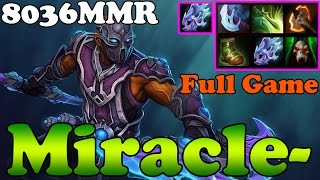 Dota 2 - Miracle- 8036 MMR TOP 1 MMR EU Plays Anti-Mage - Full Game - Ranked Match Gameplay