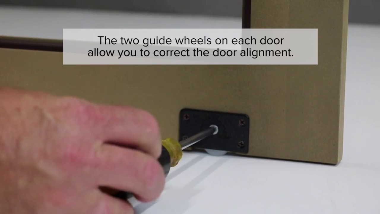 How To Install Sliding Cabinet Doors Youtube