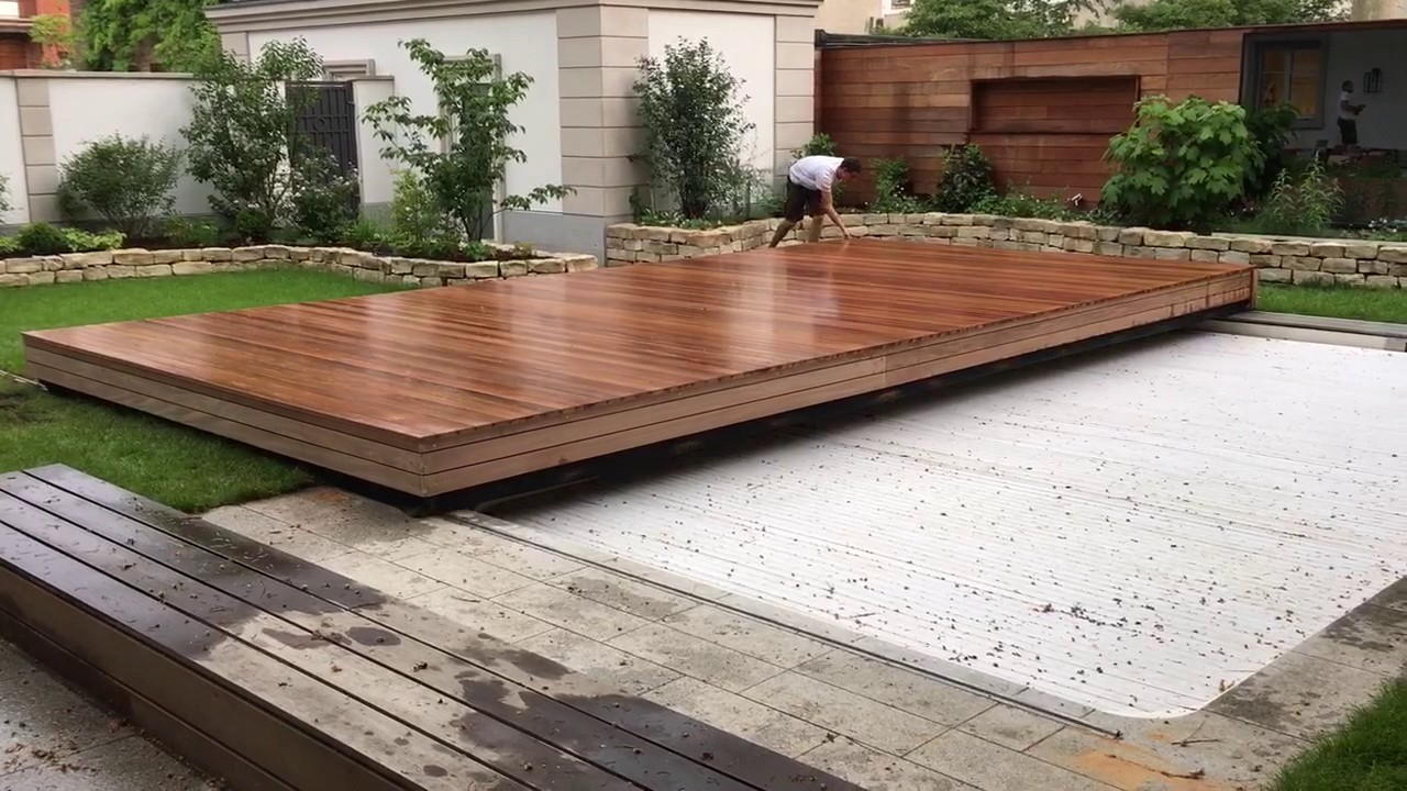 Indoor Pool Bauen Begehbare Poolabdeckung 8,0m X 4,5 M - Youtube