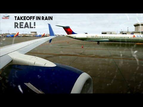 Delta Airlines B737-900ER Takeoff From Atlanta Airport (Rain) l X-Plane 11
