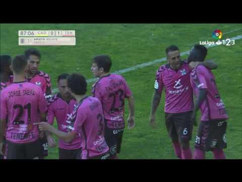 Golazo de Amath (0-1) Cádiz CF vs CD Tenerife
