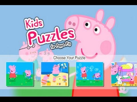 Peppa Pig Kids' Puzzles Part 1 - Best IPad App Demos For Kids - Philip