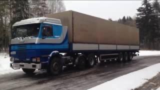 Обзор #2  Scania 113m Сканиа 113 3 седельный тягач