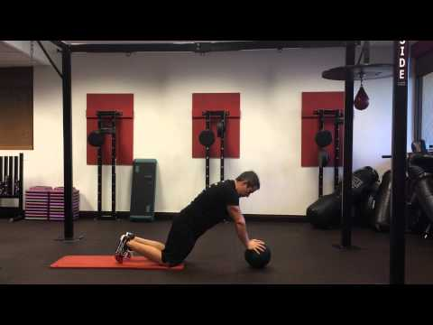 Advanced Ab Exercise: Medicine Ball Rollout