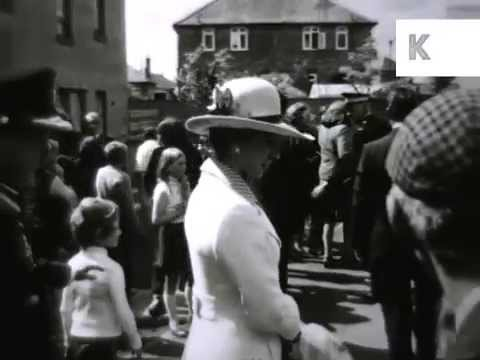 1970s Princess Anne Visits Washington, Tyne and Wear, Archive Footage