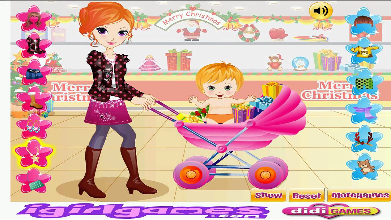 Dress up xmas games - Xmas Shopping With Mom 3d Shopping Video Baby Games Moive For Kids Dress Up Tv