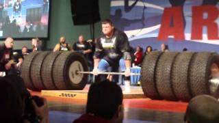 Zydrunas Savickas Deadlifting 1117 - World Record 2012 Arnold Classic Strongman