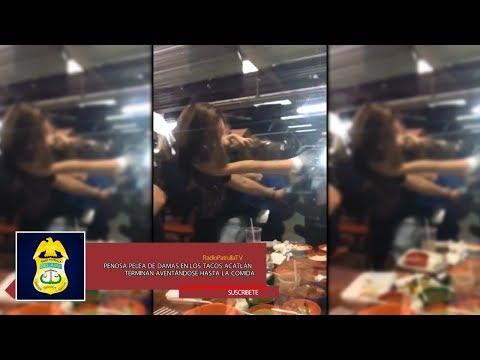 Penosa pelea entre damas en los tacos Acatlán