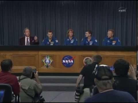 STS-135 Space Shuttle Atlantis Crew Post-landing Press Conference