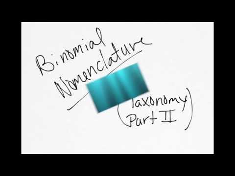 Scientific Names (Binomial Nomenclature)
