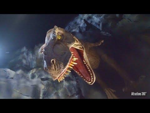 NEW Jurassic World The Ride At Night - Universal Studios Hollywood