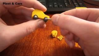 Лепим мини НИВУ из пластилина за 15 минут ( vaz 2121 ) Build mini car from clay in 15 minutes
