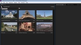 Видеомонтаж уроки.  Окно Project в Adobe Premiere Pro СС.