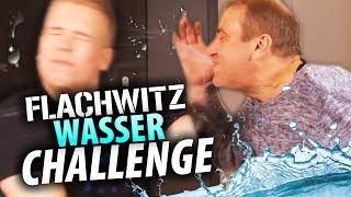FLACHWITZ WASSER CHALLENGE - mit Papa & Rewinside