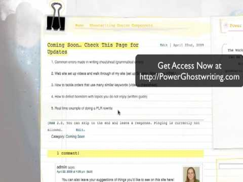Power Ghostwriting - Online Freelance Writing Opportunities