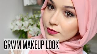 GRWM MAKEUP LOOK PURPLE & PINK HUES | NABIILABEE
