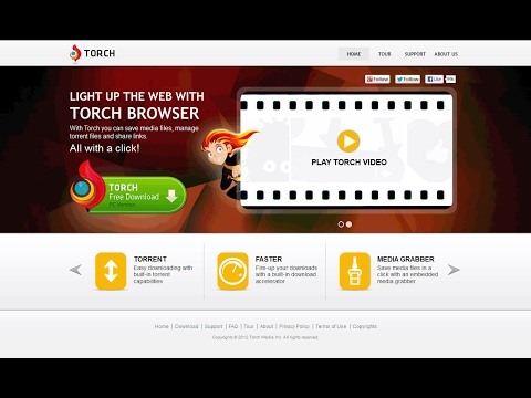 Torch Browser All in one Browser (Facebook Torch Browser , Torrent