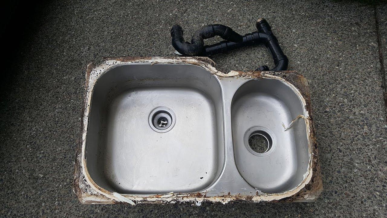 Undermount Sink Fallen From Granite Countertop Youtube