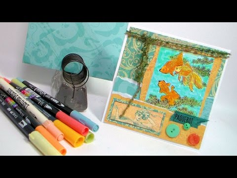 Idea For Using Photo Paper in Cardmaking// No Template Envelope // Stamp School