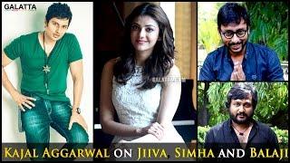 #Kajal Aggarwal about  @Jiva  @Rj Balaji  @Simha | #Kavalai Vendam