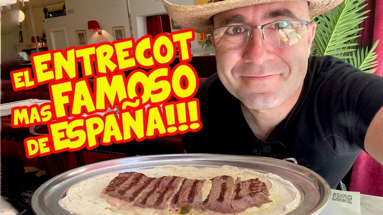 Probando el ENTRECOT más FAMOSO de ESPAÑA