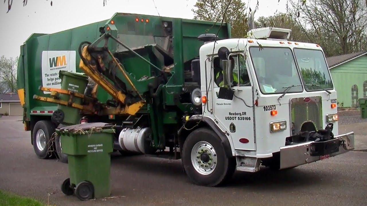 Waste Management Labrie Cool Hand Split Body Garbage Truck ...