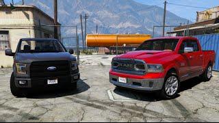 GTA V | DODGE RAM LIMITED 2016 VS. FORD F150 2015 | GTA 5