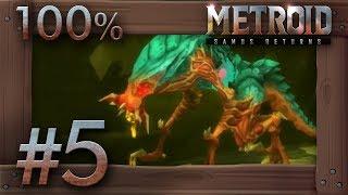 Metroid Samus Returns - 100% Walkthrough Part 5 | Area 4 (All Missiles & Energy Tanks) 3DS Gameplay