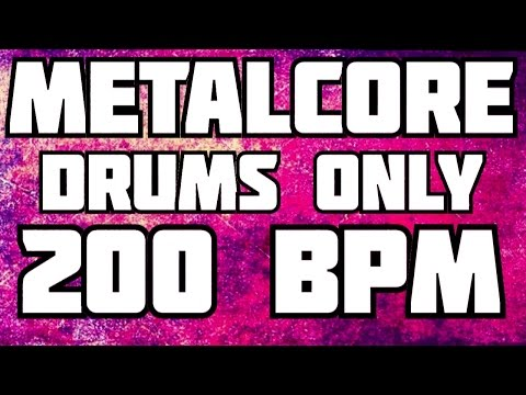 METAL DRUMS ONLY 200 BPM Drum Backing Track
