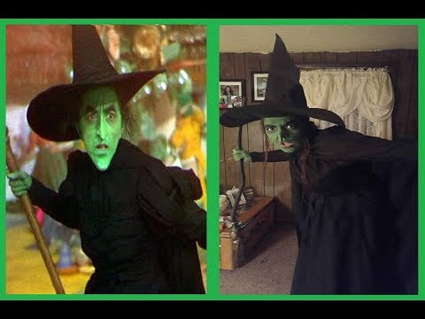 The Wicked Witch Of West Make Up Hair And Costume Tutorial Part 1