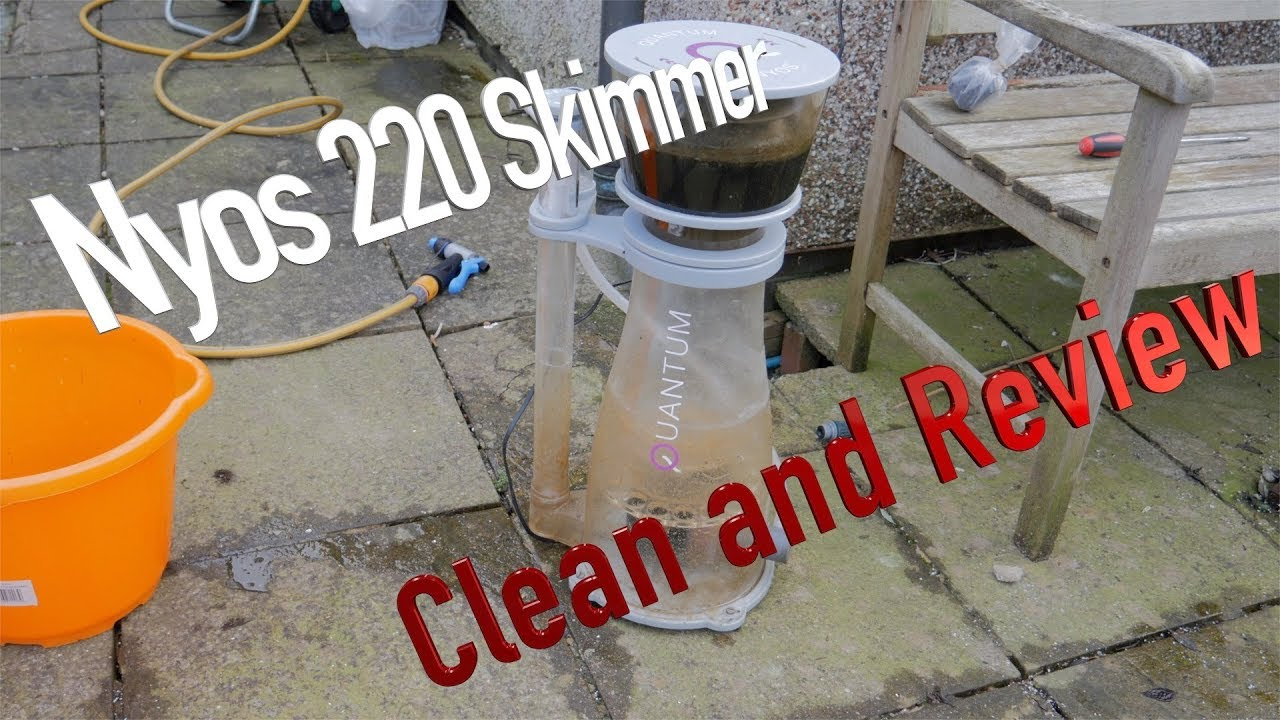 Nyos 220 skimmer Clean and Review