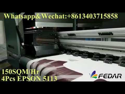 FEDAR 6194E  MEXICO Sublimation&textile printer with 4 pcs 5113 heads