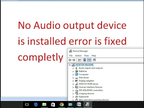 No audio Output device is installed Error Solved 100% working  YouTube