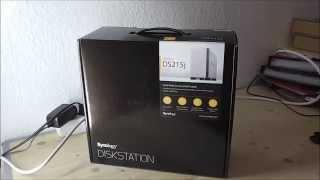 Synology DS215J unboxing deutsch