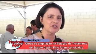 Evento de apresentação das obras de ampliação da Estação de Tratamento de Esgoto Capim Fino