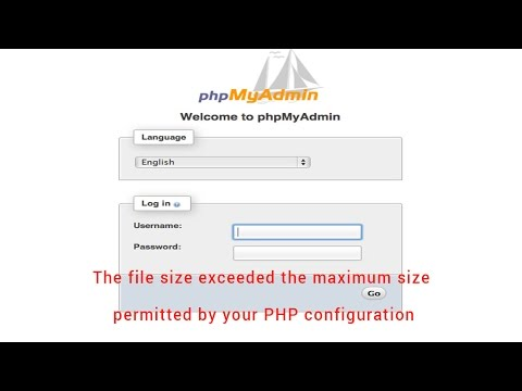 Fix: The file size exceeded the maximum size permitted by your PHP configuration