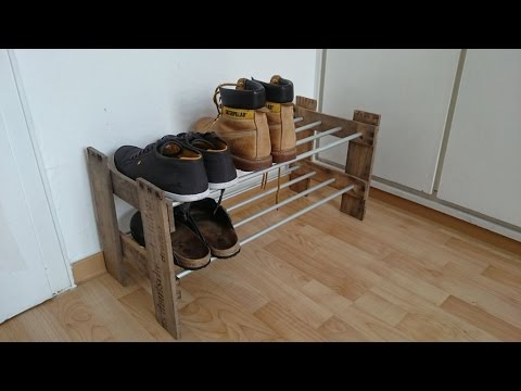 schuhregal selber bauen schuhregal selber machen diy schuhregal youtube. Black Bedroom Furniture Sets. Home Design Ideas