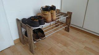 Schuhregal selber bauen. Schuhregal selber machen. Diy Schuhregal