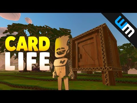 Card Life Gameplay - Ocean Swimming and Shack Building