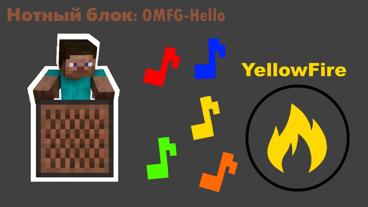 OMFG - Hello: Minecraft note block animation