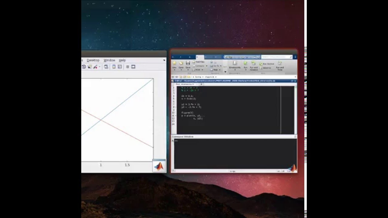 Intersection of Linear Equations in Matlab